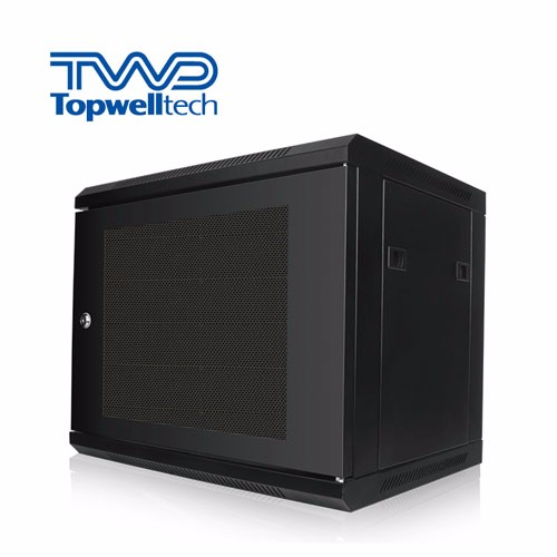 30KG Customize 9U Server Rack Cabinet Black Wall Rack Cabinet