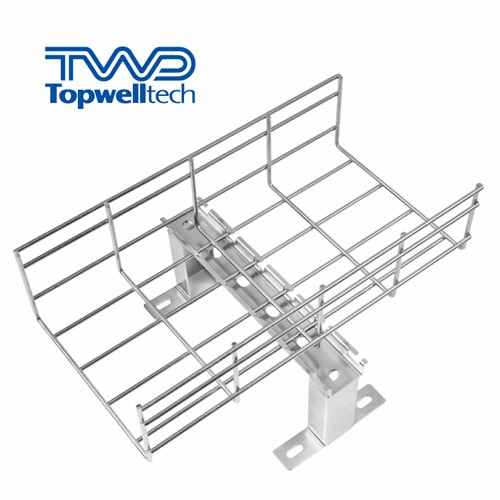 Wire Mesh Cable Tray Quick Installation With Accessories